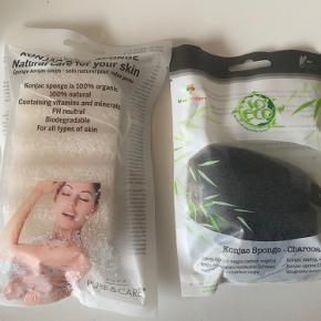 Konjac sponge - charcoal, VEGAN 🌱  Konjac body sponge, 100 % organic  Prisen er for begge📌  Tjek også mine andre TRENDSALE TILBUD 📌🤩