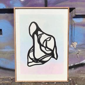 Originalt papirværk 2018. Indian ink & pastel på syrefrit 300g Canson papir. Indrammet, solid eg.   Rammemål 50x70 cm.  Pris 1800,-  Kan afhentes/mødes frb c/vesterbro 🌿