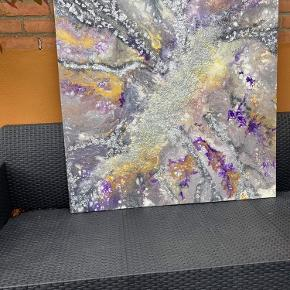 Flot maleri sælges alt skal væk derfor så billig !! Før pris 1500kr nu kun 450kr  100x100cm