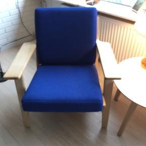 Betræk til GE 290 lav lænestol, købt april 2020. Fejler intet,men forkert farve i  forhold til resten af indretning. Nypris 3500 -. Originalt Kvadrat Hallingdal 65  uld stof farve 754.