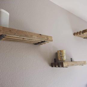 Trallehylder, brugte stilladstraller fremstilles på mål, fx. 20x50 cm 375kr, 27x175cm 650kr