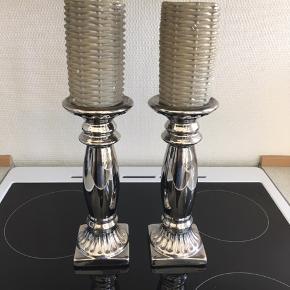 Lysestager i sølv købt i bahne - lys medfølger hvis man ønsker det