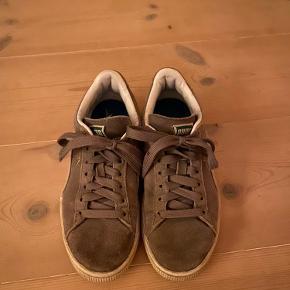 Grå puma sneakers sælges. Str. 36 tegn på slid ved snørrerbånd og under skoen. Mangler såle, men hvis man bare propper en anden sål i, går det helt fint👍   Sendes for købers regning  Pris: 200kr