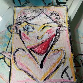 Maleri malet på lærred  30x40 cm  Se mine andre malerier på mine andre annoncer :) T.By.Art.sænker prisen til 170 kr til d. 8/8 kl 23 fra 350 kr.