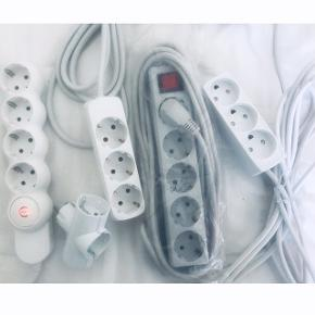 Stikdåse - Outlets with 3m cord and 5m cord