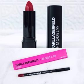 Karl Lagerfeld + Model co Lip liner og mini læbestift i rød Aldrig brugt
