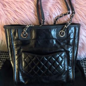 Chanel leather tote, small size Perfect for daily carry It is from 2018 AW collection  It is with dustbag, original box and bag.  I received as a gift. Only used for 3 times, very new