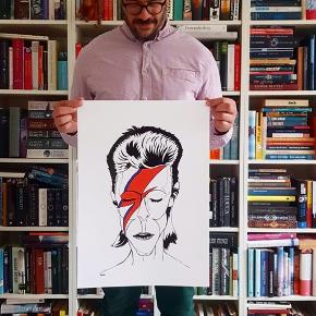 David Bowie plakat  A3:150kr A2:250kr
