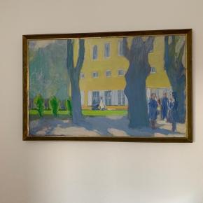 Niels Grønbech maleri. Måler 70x112 Træramme og sign. Og dat. N. Grønbech 66.   Kom med et bud :-)