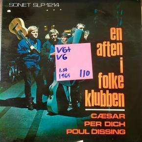 Poul Dissing en aften i Folkeklubben vinyl lp plade t grammofon fin plade lidt baldret omslag