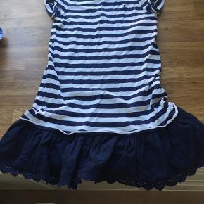 Ralph Lauren Jersey kjole med et vævet stykke forneden  Str 6X  Brugt få gange