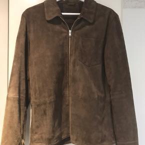 Selected jakke i brun ruskind