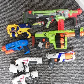 5 Nerf  1 sæt laser game sæt