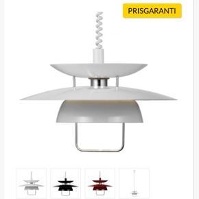 Ny lampe.  Hvid Berga design by markslöjd