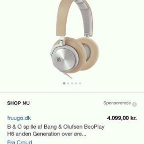 B&O høretelefoner / sælges da jeg har fået en anden model / helt nye / send besked for flere billeder / FAST PRIS / np var 4099 kr