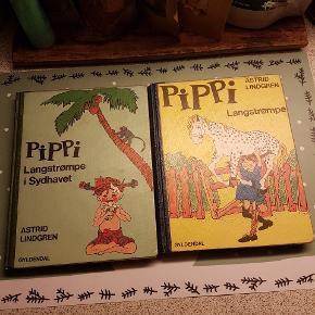 Pippi langstrømpe bøger med de gamle fine tegninger i :-)