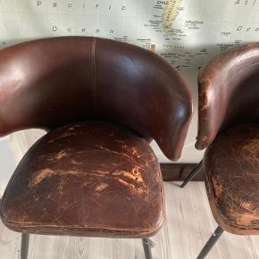4 stk. læderstole fra Zoom i Odense  Sælges samlet   Står i Asaa (Nordjylland)  20 min. fra Aalborg.