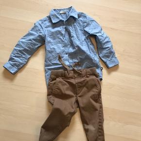 Fint sæt med bukser og skjorte Brugt enkelte gange til pæn brug