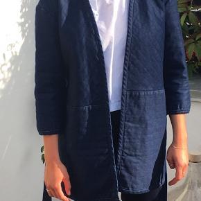 Denim blå kimonojakke