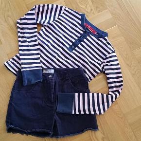 Brand: Phink Industries og D-XEL Varetype: pige Størrelse: 12år Farve: Se billedet  Virkelig sødt sæt bestående af langærmet bluse og shorts.