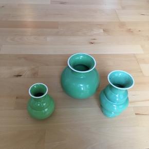 Kähler vaser 3 stk i grøn