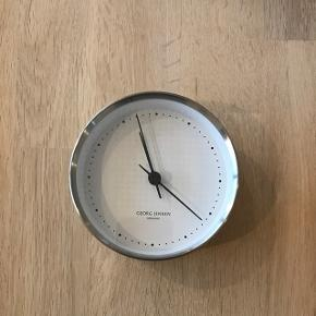 GJ ur, termometer og hygrometer i hvid/stål ø10cm - 6700/Rørkjær (sælges helst samlet)