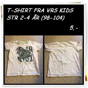 T-shirt fra vrs kids str 2-4 år