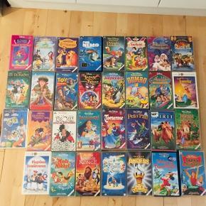Video film walt Disney sælges styk vis til 25kr Eller samlet for alle 300 Der er 31 film  De skal hentes på Frederiksberg