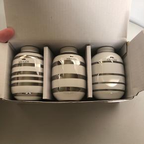Tre mini kählervaser i sølv. Brugt ganske lidt.