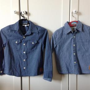 Varetype: skjorter Farve: Blå Oprindelig købspris: 400 kr.  To skjorter fra Gro. De er kun brugt et par gange.