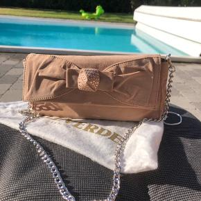 Suede clutch( can be worn also crossbody) as good as new