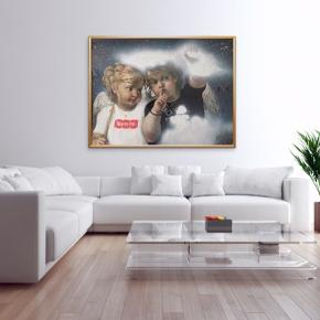"""""""Shhh"""" Maleri med målene 137x105x4 cm. Malet med akryl, spray og akryltusch 🎨 Pris er uden forsendelse Tager også imod bestillinger efter egne farve- og størrelsesønsker 🍭🙏🏽 ROAR"""