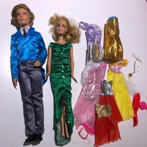 2 barbier Kenn og Barbie + tøj Samlet pris