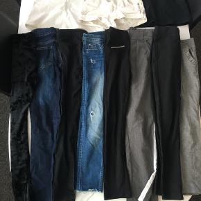 Tøjpakke til pige på 9-10 år. Indeholder 8 par bukser, 2 nederdele og 1 par shorts. Fra bl.a. Zara, H&M, D-Xel, Queenz.