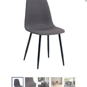 Har 4 stk af disse fine stole fra jysk... fik dem i julegave for 2 år siden. Stolene er i super fin stand.  Ny pris pr Stk 300kr Sælges samlet 500kr eller 150kr stk  SKAL HENTES I ESBJERG!!