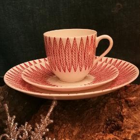 Salix kopsæt. Köp, underkop og sidetallerken. Salix, stig lindberg, gustavberg. Retro /vintage Fajance /porcelæn.