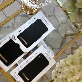 Fine Covers fra ideal of sweden til IPhone 10 x/xs  Et etui og et cover i sort.  Brugt 1 dag .  135 pr del (uden) Porto .🌷
