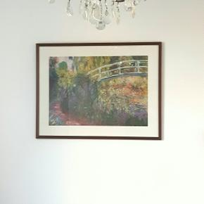 Super fin Monet plakat i flot træramme. 63,5 × 83 cm