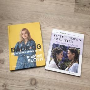 To fine piger bøger. Kom med et bud - skal bare ud. 1 - Både og af Kristine Sloth 2 - flettepigernes favoritter af Laura og Marie