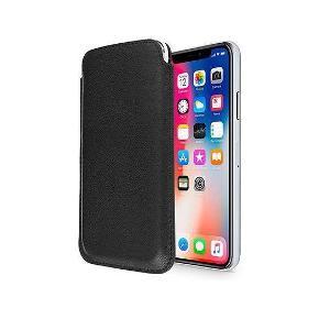 Cover til IPhone XS/X  Beskyt din iPhone med et Infinity Push-Up Lomme Etui, Etuiet har en perfekt pasform til iPhone X/Xs med et enkelt design og er i den højeste kvalitet. Takket være det kompakte design, glider det let ned i din lomme eller taske.  Tekniske Data ✓Passer til: iPhone X & iPhone Xs ✓Blødt materiale indvendigt beskytter skærmen ✓Funktionelt Sleeve og stilfuldt design ✓Pull op tab bag på for nem adgang  Er stadig i emballage Giv et bud
