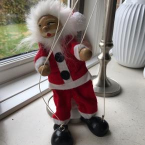 Gammel Julemand marionetdukke 20 CM hoved, sko og hænder er i træ samleobjekt juleleg