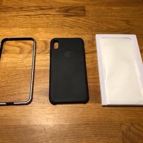Sælger dette originale Apple silikone cover til iPhone XS Max. Brugt minimalt. Har også en bumper og skærmbeskyttelse. Prisen er for det hele. Kan også sælges separat.