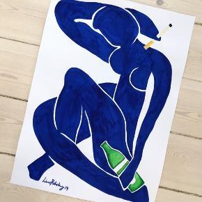 Plakat i A3, i den flotteste kongeblå farve.  199,- uden ramme. Sendes med DAO for 36,-   Hvis man vi se andre billeder og tegninger lavet af mig, kan man følge med på min Instagram: linesbyline🤗
