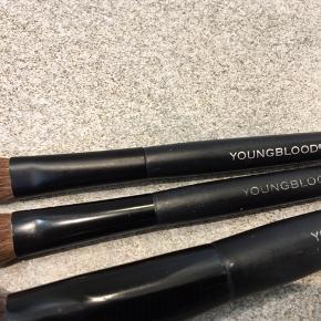 Makeup, pensler, YOUNGBLOOD  3 pensler samlet