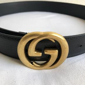 Gucci læder bælte med interlocking G buckle