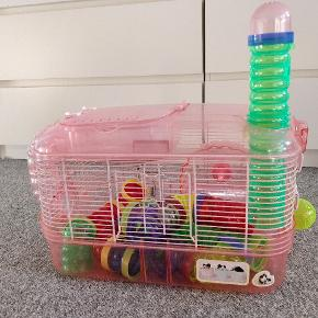Hamster bur med tilbehør