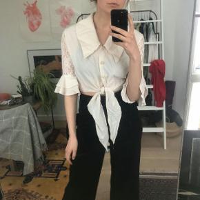 Vintage skjorte i råhvid