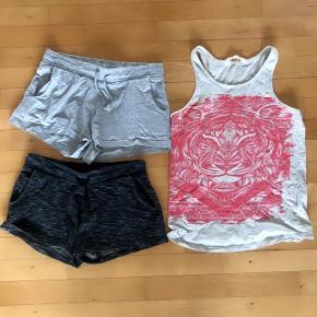 H&M 2 par shorts og 1 sommertop str 152 cm