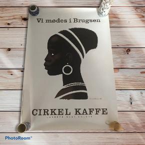 Super fin plakat for cirkel kaffe. 70x100