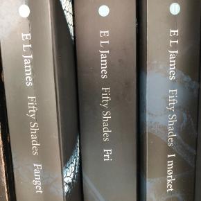 Triologien af Fifty shades of Grey. Sælges samlet